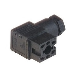 GO 60 WF black; Cable Socket with PG 7 Cable gland and solder contacts, 6 contacts, forked spring, DIN VDE 0627 / IEC 61984, 6A, 250V AC/DC