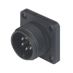 CM 02 E 14 S-6 P ; Connecteur, avec bride, avec soudure godet, 6 contacts, MIL-C 5015 bzw en saillie. VG 95 342, black housing, 10 a 50V AC/DC