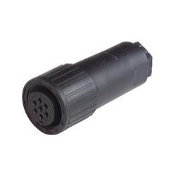 EA DE CM 06 14 S-61 S; Droites de prise de câble, serre-câble au moyen d'une pince, 6 contacts + PE, PG11, MIL-C 5015 bzw. VG 95 342, black housing, 10 a 50V AC/DC