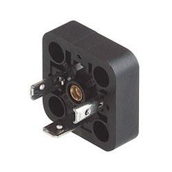 GSA 2000 A noir; Une construction Type de raccord avec écrou, sans vis, fentes longitudinales, écrou fermé, 2 contacts + PE, de retenue