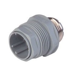 N11R AM 5; Panel-mounted connector with metal screw-in casing (metal segment), 11 contacts + PE, male, PG13.5, DIN 43651, 5A 60V AC/DC, grey housingunassembled