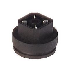 G 4 A 1 M MT noir; Press-fit surface connecteur monté avec contacts de soudure
