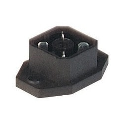 G 30 A 5 M black; Surface mounted connector with flange with solder contacts, 3 contacts + PE, blade, DIN VDE 0627 / IEC 61984, 10A 250V AC/DC