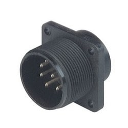 CM 02 E 20-7 P ; Connecteur, avec bride, avec soudure godet, 8 contacts + PE, MIL-C 5015 bzw en saillie. VG 95 342, black housing, 10 a 50V AC/DC