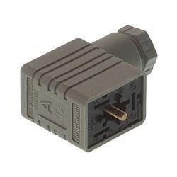 NJ GM 209 gris; Prise de câble avec vis centrale M 3 x 35, 2 contacts + PE, PG9, Type B, industriel standard 11 mm