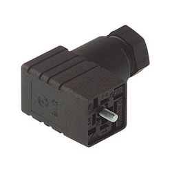 GDSN 307 black; Cable Socket with central screw M 2.5 x 27, 3 contacts + PE, PG7, Type C, DIN EN 175 301-803-C