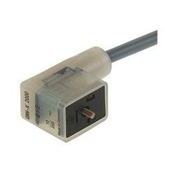 GMNL-K 2000 LED 24 GB1 ZZ 5M noir; Prise de câble moulé-sur-plomb, redresseur avec protection circuit Z-diode et fonction indicateur LED, 2 contacts + PE, de matériel de câble 301-803-B, Type B, DIN EN 175 : PVC, 8 a 24V AC/DC