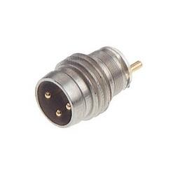 ELST 3308 RV KH; Raccord pour capteur M8, snap ou visser le tube de verrouillage, presse-en montage, metalcasing, modèle court, 3 contacts, male, 3 a, 60V, axes creux
