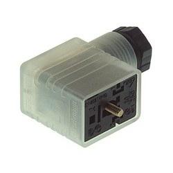 GMNL 209 NJ LED 24 HH noire; Fonction indicateur rouge LED avec diode de circuit de protection, 2 contacts + PE, PG9, DIN EN 175 301-803-B, Type B, 8 a, 24V DC
