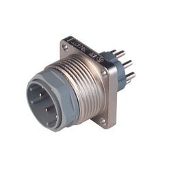 N11R BM FA S; Surface-mounted connector with flange, 11 contacts + PE, male, 5A 25V AC, 5A, 50V DC