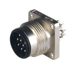 N11R BM FA F metal; Surface-mounted connector with flange and filter selection 11 x 1nF, metal housing