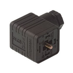 GDM 2016 black; Cable Socket with central screw M 3 x 35, 2 contacts + PE, M 16, Type A, DIN EN 175 301-803-A