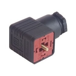 "GDM 2012 J black; Cable Socket not assembled, with central screw M 3 x 35, 2 contacts + PE, 1/2"" NPTF, Type A, DIN EN 175 301-803-A"