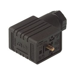 GMN 216 NJ black; Cable Socket with central screw M 3 x 35, 2 contacts + PE, M 16, Type B, DIN EN 175 301-803-B