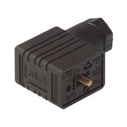 GMN 209 NJ noir; Prise de câble avec vis centrale M 3 x 35, 2 contacts + PE, PG9, Type B, DIN EN 175 301-803-B