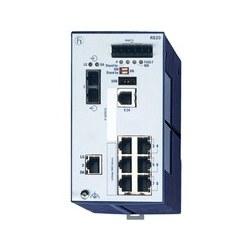 8 port Fast Ethernet OpenRail commutateur Compact, gestion, logiciel de couche 2 Enhanced, DIN rail magasin-et-avant-commutation, sans ventilateur; ports 8 au total; 1. uplink : 100-FX, MM-SC; 2. uplink : 10/100-TX, RJ45, 6 x 10/100 BASE TX, RJ45