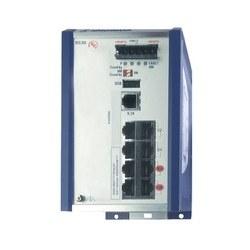Compact OpenRail Fast Ethernet PoE switch; 8 ports in total; 1. uplink: 100BASE-FX, MM-SC; 2. uplink: 100BASE-FX, MM-SC; 6 x standard 10/100 BASE TX, RJ45; 4 PoE Ports