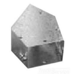 """45-degré coude, goulottes de plat-couverture mise en NEMA Type 1, 6"""" H x 6"""" W, acier peint gris"""