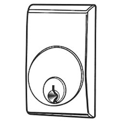 Exit Device Cylinder Escutcheon Kit, Dark Bronze Anodized, For 3600/8500/8600 Series Exit Device