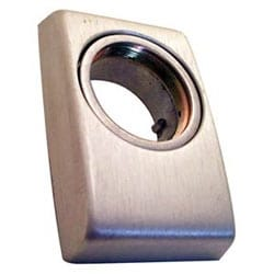 Exit Device Cylinder Escutcheon Kit, Clear Anodized, For 3600/8500/8600 Series Exit Device