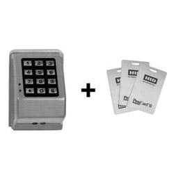 Door Lock Keypad, Digital, Prox, Wall Mount, 12 to 24 Volt AC/DC, Metallic Silver, For Door Lock