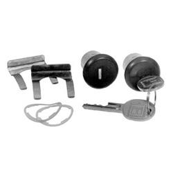 General Motor Door Cylinder Lock, Uncoded, 1974 Year Model, Black, With (2) Medium Length Lock/Key/Retaining Clip/Gasket