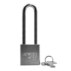 """Rekeyable Padlock, Different Keyed, 5-Pin Tumbler, 1-3/4"""" Width x 3/4"""" Thickness, Solid Steel Body, Chrome Plated, With 3"""" Clearance Boron Alloy Shackle"""