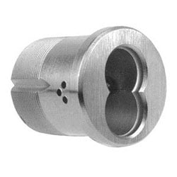 """Mortise Cylinder Housing, Standard, 7-Pin, 1-1/4"""" Length, Oil Rubbed Dark Oxide Bronze, With Cam"""