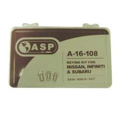 Automotive Keying Kit, Includes P-16-181/184 Series Tumbler, For Nissan/Subaru