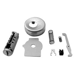 Automotive Ignition Lock and Plug Repair Kit, Uncoded, Includes Face Cap/Spring/Locking Bar/Seal Plate, For Mazda 323-1986 to 1989, Mercury Tracer-1988 to 1990 Year Model