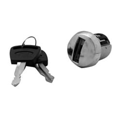 Automotive Ignition Lock, 10-Cut, #5 Depth, Chrome Plated Dome Face, Without Ear, For Ford Service