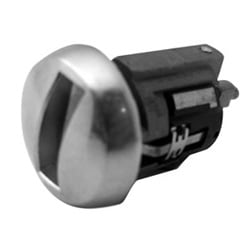 Automotive Ignition Lock Cylinder, Uncoded, Dome Face, Chrome Plated, For Ford Taurus-1986 to 1989 Year Model
