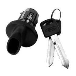 Automotive Ignition Lock Cylinder, Coded, For Ford 8-Cut Aerostar-1995 to 1997/Crown Victoria-1996 to 2005/Bronco-1995 to 1997/Excursion-2000 to 2005 Year Model