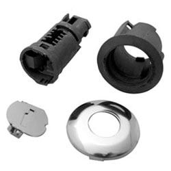 Automotive Door Lock Service Pack, Uncoded, Chrome Plated, For Ford Aerostar (10-Cut Lock)-1986 to 1995/Escort-1988 to 1990 Year Model