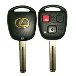 Automotive Key Blank, TOY48 Key Pro?le, With 4D Transponder/3-Button Remote Control Head, For Lexus GX470/LX470-2003 to 2006 Year Model