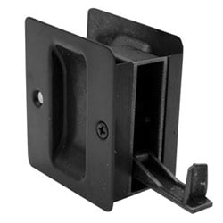 "Pocket Door Pull, Passage, 2-1/2"" Length x 2-3/4"" Height, Dark Oxidized Satin Oil Rubbed Bronze"