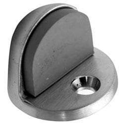 """Door Stop, Universal, High Rise Dome, Low Rise Lip, 13/16"""" Diameter, Satin Chrome Plated"""
