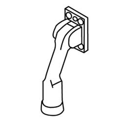 """Door Holder, Kick Down, 4"""" Height, Cast Bronze/Brass/Aluminum, Clear Anodized Aluminum"""
