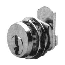"Cam Lock, Straight, Disc Tumbler, Keyed Alike CAT30, 1-1/4"" Length, 13/16"", Satin Chrome Plated"