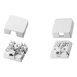 1-port surface mount jack 6Wx6P, ivory