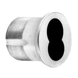 "Mortise Cylinder Housing, Large Format Interchangeable Core, Standard, 6-Pin, Straight Cam, 1-1/4"" Length, Satin Chrome Plated"