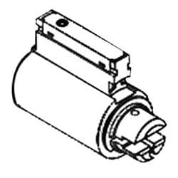 Door Lock Component Cylinder, Conventional, Key-in-Lever/Knob, 6-Pin, D1 Keyway, Satin Chrome Plated