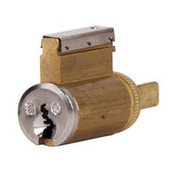 Door Lock Component Cylinder, Conventional, Key-in-Lever, 6-Pin, N16 Keyway, Satin Chrome Plated