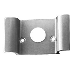 Exit Device Trim, Night Latch, Extruded Wing Pull, ANSI F03, Silver Aluminum Painted, Without Cylinder