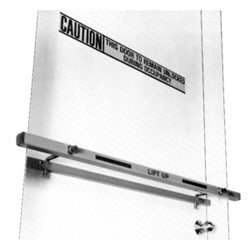 "Door Bar, Heavy Duty, Single, Hook-On Operation, Gray Baked Electrostatic Epoxy Powder Coated, For 48"" Outswing Door"