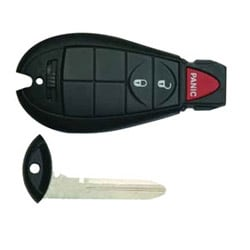 Vehicle Key Blank, 3-Button Remote Head, Fob, For Dodge Caravan 2008 Year Model, Durango 2011 Year Model