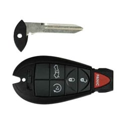 Vehicle Key Blank, 5-Button, Fob, 300C, For Chrysler 2008 to 2010 Year Model