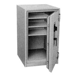 """Fire Safe, Combination Lock, 2 Hour Fire Safe Label, 23-1/4"""" Width x 25-3/4"""" Depth x 27-1/4"""" Height, Gray"""