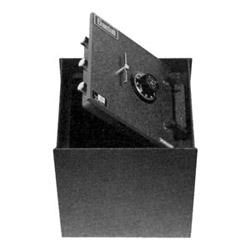 """In-Floor Safe, Combination Lock, Commercial, 12-7/8"""" Width x 17-1/4"""" Depth x 14-3/4"""" Height, Gray"""