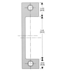 """Gâche électrique têtière, 4-7/8"""" longueur x largeur 1-1/4"""", en acier inox satiné, pour mortaise serrure"""